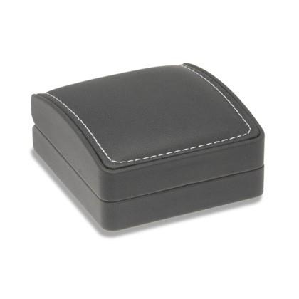 Edles schwarzes Etui mit schmuckbezogener Einlage für Collier-Anhänger oder Ohrringe