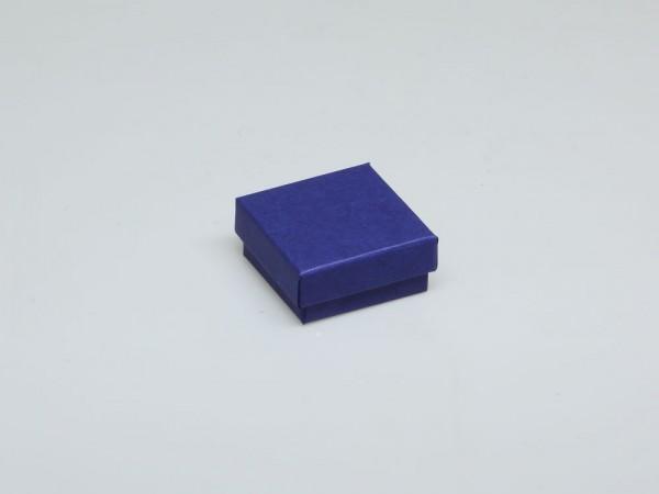 Blaue Geschenkbox mit Watte im Unterteil für Ohrschmuck, Edelsteine und Geschenke