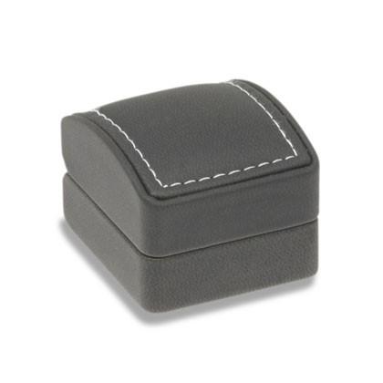 Geschenkverpackung in edlem Schwarz mit Einlage für Ohrschmuck in Gold oder Silber