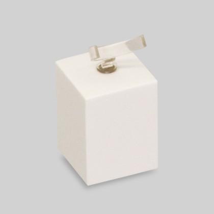 Ringsockel mittel in Weiss glänzend zur Dekoration und Präsentation von Ringen