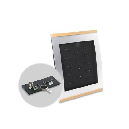 Trauringständer BASIC für 14 Paar Eheringe, mit Preishalter für DELTA-Ziffern