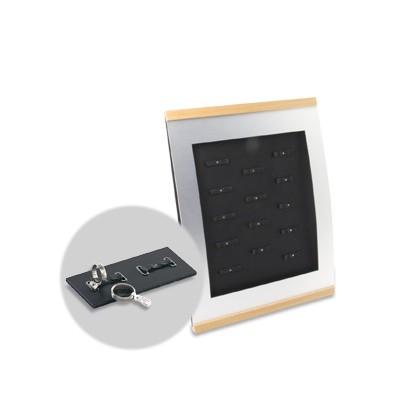 Trauringständer BASIC für 14 Paar Eheringe, mit Öffnungen für Preisetiketten