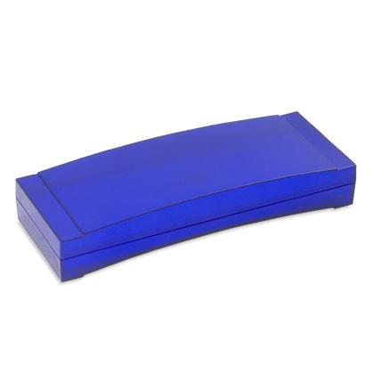 Werbemittel-Verpackung ausgestattet mit einer tiefgezogenen Einlage für einen Kugelschreiber oder ei