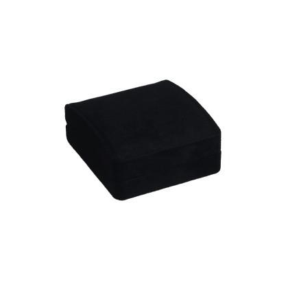 Schwarze elegante Schmuckverpackung mit Einlage für Schmuckanhänger, Armreifen