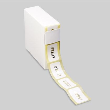Selbstklebende Etiketten 8-eck weiss als Informationsträger oder Werbeträger