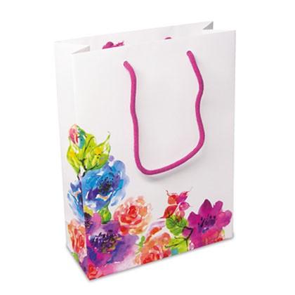 Tragetasche aus Papier mit floralem Design