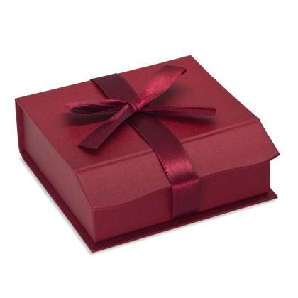 Geschenkverpackung passend für Weihnachten mit magnetischer Deko Schleife
