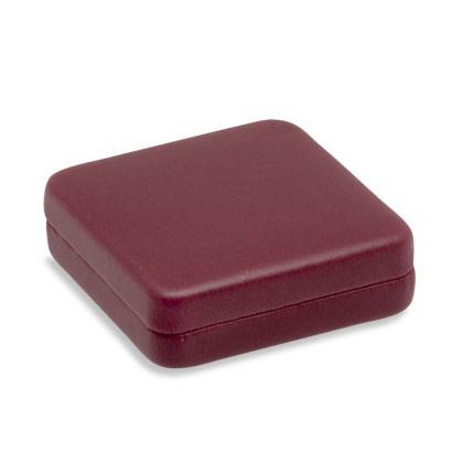 Münzetui als rote Verpackung passend für eine Münze, Medaille, Orden oder Plakette
