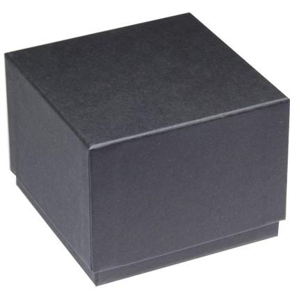 Uhrenverpackung aus Karton mit schwarzem Papier überzogen