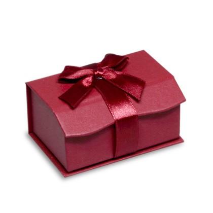 Verpackung aus Karton, Geschenk- Verpackung mit Dekoschleife für Trauringe