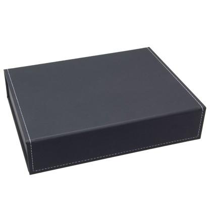 Edle Präsentbox, Geschenkverpackung in schwarz zur Aufbewahrung von Schmuckstücken oder zur Präsenta