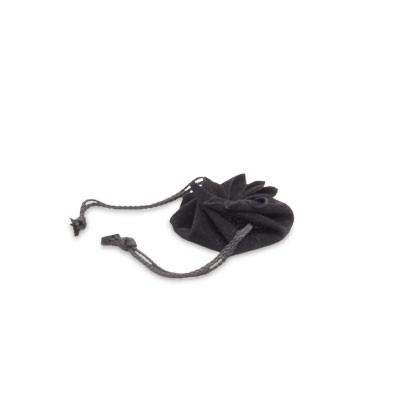 Kleiner Zugbeutel, Schmuckbeutel in schwarz für Heilsteine und Schmuck