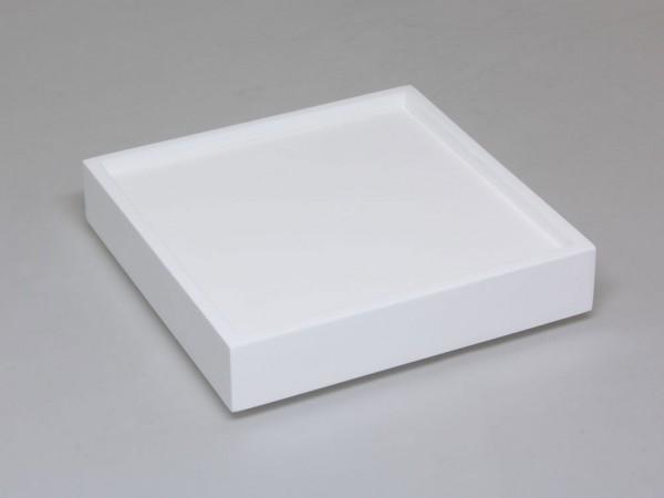 Tablett in weiss mit Einlage für 9 Ringe