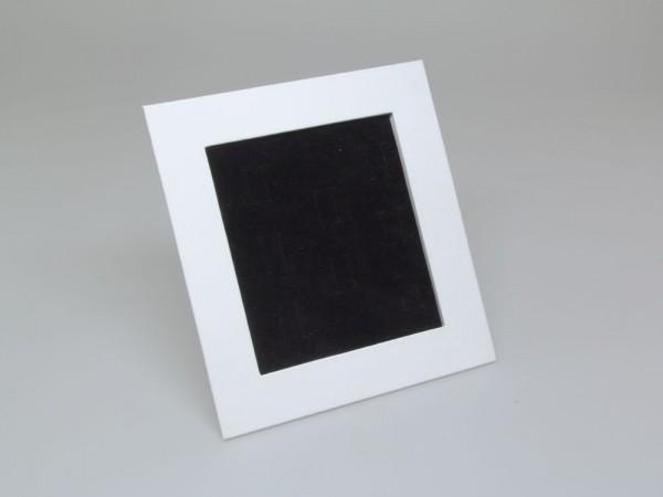 Display, Trauringständer STRAIGHT in weiss/schwarz für 8 Paar Trauringe