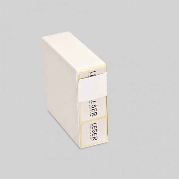 Werbeetiketten 4-eck zur Kennzeichnung von Produkten, Verpackungen, Geschenken