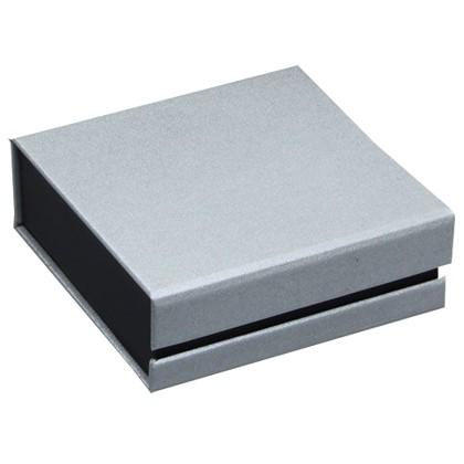 Kartonetui in Silber/Schwarz